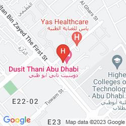 Mapa DUSIT THANI ABU DHABI