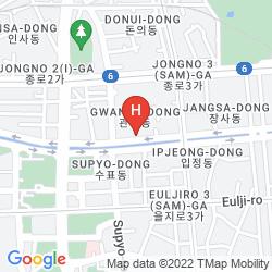 Mapa SEVEN STREET SEOUL