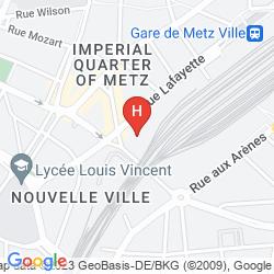 Mapa RESIDHOME METZ LORRAINE