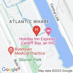 Mapa NOVOTEL CARDIFF CENTRE