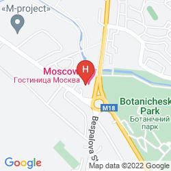 Mapa MOSKVA