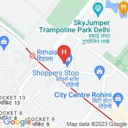 Mapa CROWNE PLAZA NEW DELHI ROHINI