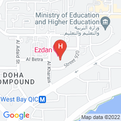 Mapa EZDAN HOTEL, WEST BAY
