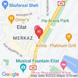 Mapa C HOTEL EILAT