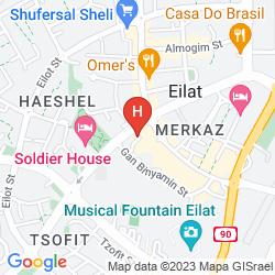 Mapa KIBBUTZ EILOT