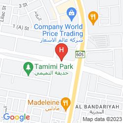 Mapa HALA HOTEL AL KHOBAR