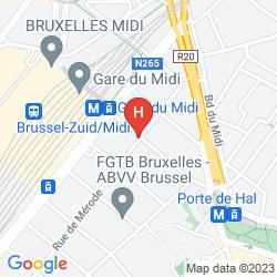 Mapa IBIS BRUSSELS CENTRE GARE MIDI