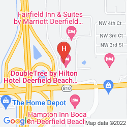 Mapa DOUBLETREE BY HILTON HOTEL DEERFIELD BEACH - BOCA RATON