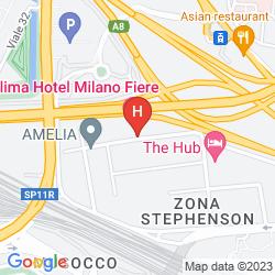 Mapa KLIMA HOTEL MILANO FIERE