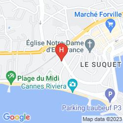 Mapa APPART'HOTEL ODALYS LES FELIBRIGES