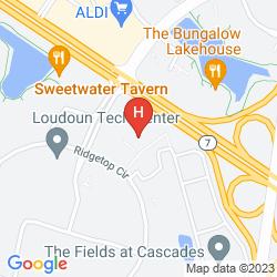 Mapa HYATT PLACE STERLING DULLES NORTH