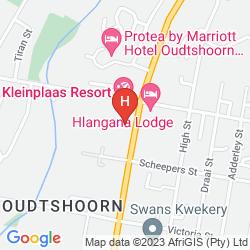 Mapa KLEINPLAAS HOLIDAY RESORT