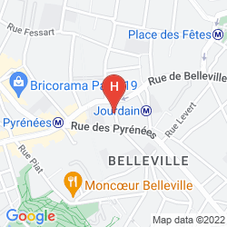 Mapa HIPOTEL PARIS BUTTES CHAUMONT PYRENEES