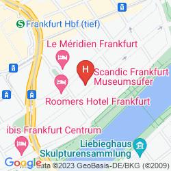 Mapa SCANDIC FRANKFURT MUSEUMSUFER