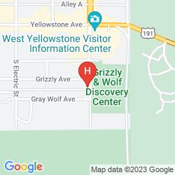 Mapa GRAY WOLF INN AT WEST YELLOWSTONE