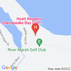 Mapa HYATT REGENCY CHESAPEAKE BAY GOLF RESORT SPA AND MARINA