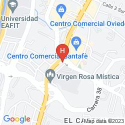 Mapa HOTEL BH EL POBLADO MEDELLIN