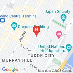 Mapa HAMPTON INN MANHATTAN GRAND CENTRAL