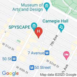 Mapa HILTON GARDEN INN NEW YORK/CENTRAL PARK SOUTH-MIDTOWN WEST
