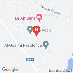 Mapa ROMAZZINO, A LUXURY COLLECTION HOTEL, COSTA SMERALDA