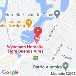 Mapa WYNDHAM NORDELTA TIGRE BUENOS AIRES