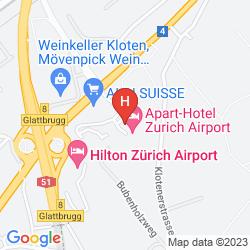 Mapa APART-HOTEL ZURICH AIRPORT