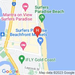 Mapa PEPPERS SOUL SURFERS PARADISE