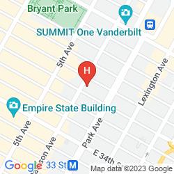 Mapa MORGANS NEW YORK