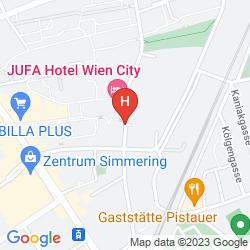 Mapa JUFA WIEN CITY
