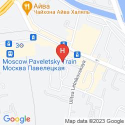Mapa COURTYARD MOSCOW PAVELETSKAYA