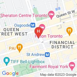 Mapa SHANGRI-LA TORONTO HOTEL