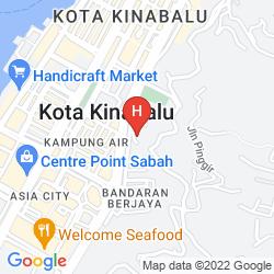 Mapa SHANGRI LA KOTA KINABALU