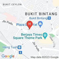 Mapa SKY HOTEL BUKIT BINTANG