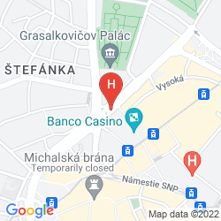 Mapa CROWNE PLAZA