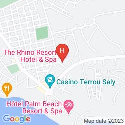 Mapa THE RHINO RESORT HOTEL & SPA
