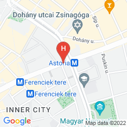 Mapa DANUBIUS HOTEL ASTORIA CITY CENTER