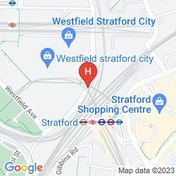 Mapa HOLIDAY INN LONDON STRATFORD CITY