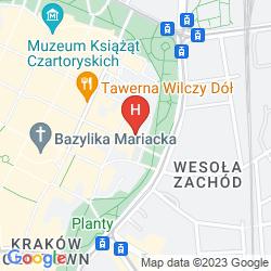 Mapa CAMPANILE KRAKOW