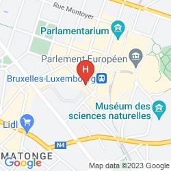 Mapa MARRIOTT EXECUTIVE APARTMENTS BRUSSELS EUROPEAN QUARTER