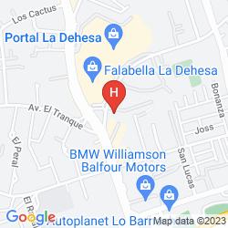 Mapa RADISSON BLU SANTIAGO LA DEHESA