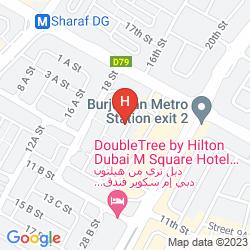 Mapa ROSE GARDEN HOTEL APARTMENT - BUR DUBAI