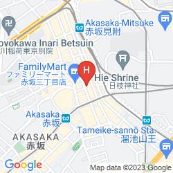 Mapa CENTURION RESIDENTIAL AKASAKA