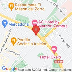 Mapa AC HOTEL ZAMORA
