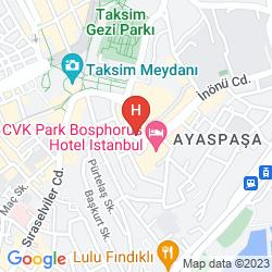 Mapa CVK PARK BOSPHORUS HOTEL ISTANBUL