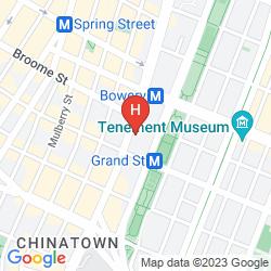 Mapa BOWERY GRAND HOTEL