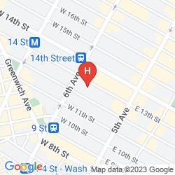 Mapa WALKER HOTEL GREENWICH VILLAGE