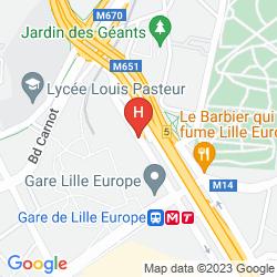 Mapa CROWNE PLAZA LILLE - EURALILLE