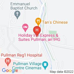 Mapa HOLIDAY INN EXPRESS HOTEL & SUITES PULLMAN
