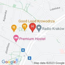 Mapa GOLDEN TULIP KRAKOW CITY CENTER HOTEL