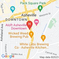Mapa ALOFT - ASHEVILLE DOWNTOWN